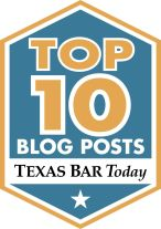 Texas Bar Association Top Ten Legal Blogs in Texas